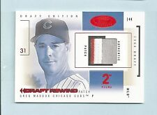 GREG MADDUX 2004 HOT PROSPECTS DRAFT REWIND 3 COLOR PATCH RED HOT /5 CUBS