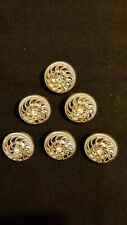 Fashion Buttons. Exquisite set of 6 buttons. Diamonte center. 25 mm round.