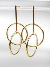 UNIQUE Urban Anthropologie Double Interlocked Gold Rings Dangle Earrings