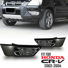 Fit 2002-2004 Honda CRV CR-V Clear Spot Fog Lights Driving Bumper Lamp+Switch