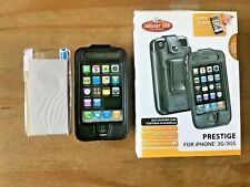 PRESTIGE QUALITY ECO-LEATHER CASE COVER & SCREEN PROTECTOR - APPLE iPHONE 3 3GS