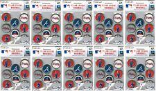 Atlanta Braves Bottlecap Stickers MLB Scrapbook licensed WHOLESALE LOT of 10