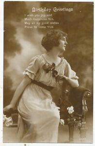 Birthday Greetings, 1916 postcard