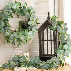 2M Artificial Eucalyptus Garland Hanging Fake Trailing Flower Plants Vine Ivy L0