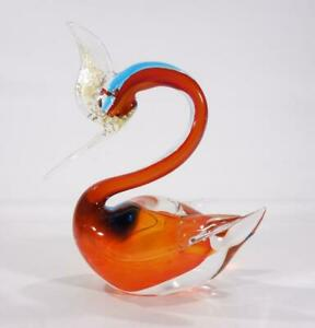VINTAGE RETRO ITALIAN MURANO ART GLASS BIRD FIGURE