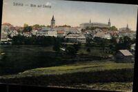 Schleiz Blick auf Schleiz Ortschaft Kirche  Ansichtskarte Postkarte AK PK