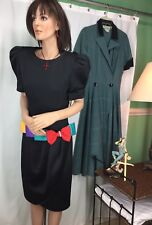 Opening Night Black Dress With Multi Color Bow Womens Size 12 NOS 171126MFC/WDB