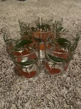 Vintage Glassware Set Of 7 Glasses. Orange Juice Glassware Small