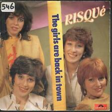 "RISQUE Girls Are Back In Town 7"" VINYL Netherlands Polydor 1982 B/W Risque"