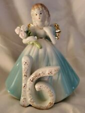 Josef Originals Sweet Sixteen Birthday Angel Topper- Ornament Vintage Wholesale