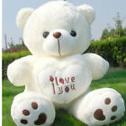 100% Cotton Stuffed White 50cm Plush Lovely Teddy Bear Soft Gift
