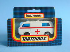 Boxed vintage 1991 white MATCHBOX SUPERFAST MB-20 Red Cross VW TRANSPORTER