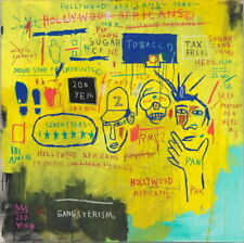 """Jean Michel Basquiat Hollywood Africans Giclee Canvas 16""""X16"""""""