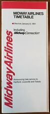 MIDWAY AIRLINES - SYSTEM TIMETABLE - 8 JAN 91