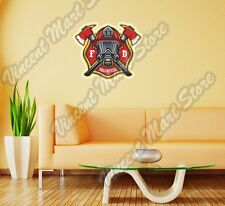 Firefighter Fire FD Department Volunteer Wall Sticker Room Interior Decor 22""