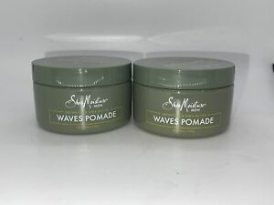 Shea Moisture Argan Oil & Shea Butter Waves Pomade 4 .0z 2 Pack