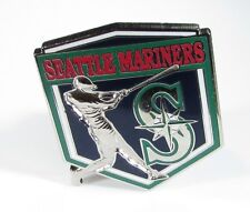 Silver Tone Pin with Seattle Mariners Player At Bat