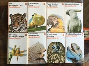 Gerald Durrell Box Set Penguin PB (8) 1973 - Illustrated Animals, Zoo, Bafut ++