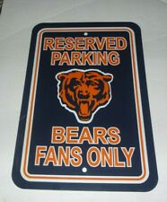 "Chicago Bears Nfl 12"" X 18"" Fan Parking Sign Wall Decoration Gameroom"