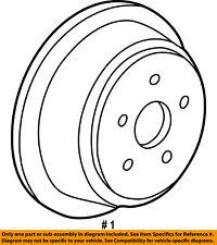 FORD OEM Rear Brake-Rotor 5U2Z2V026DB