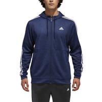 Adidas Men's Full Zip Tech Climawarm Fleece Lined Hoodie, Navy, Large