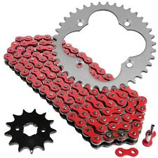 Red Drive Chain and Sprockets Kit Fits HONDA TRX300EX TRX300X SporTrax 300 2x4