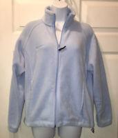 Columbia Benton Springs Blue Full Zip Fleece Jacket Zip Pockets Womens Sz M