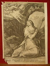 Gravure Engraving XVII ème Crispin DE PAS Crispijn PASSE Cornelius DANCKERTS