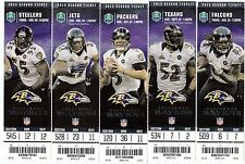 2013 BALTIMORE RAVENS SEASON TICKET STUB SET 10 TICKETS RICE FLACCO RAY LEWIS