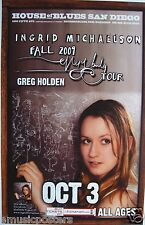 """INGRID MICHAELSON 2009 """"EVERY BODY TOUR"""" SAN DIEGO CONCERT POSTER"""