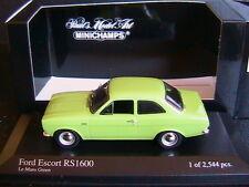 FORD ESCORT I RS 1600 1971 LE MANS GREEN MINICHAMPS 400081071 1/43 MKI VERTE