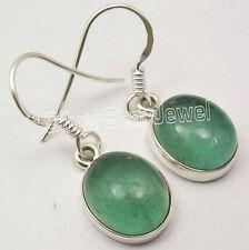 Brand New Design ! 925 Sterling Silver Rare Apatite Stone Dangle Earrings 2.8 Cm