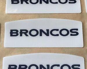 DENVER BRONCOS NFL FULL SZ FRONT BUMPER DECAL MANNING MILLER WARE SB50 CHAMPS
