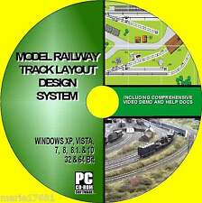 MODEL RAILWAY BEST TRACK LAYOUT DESIGN SOFTWARE OO GUAGE HORNBY Etc NEW PC CD