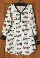 100 % COTTON SLEEPSHIRT NIGHTGOWN FLANNEL SHIRT L LARGE
