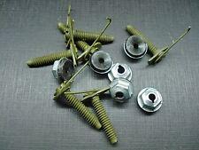 6 pcs belt door body side moulding trim clips & nuts mastic sealer Mopar NOS 408