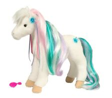 Rainbow Princess Horse Plush Soft Toy White Girls Brush Pony NEW WITH TAGS
