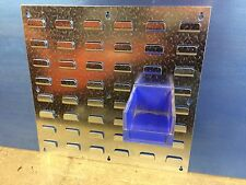 2 NEW Galvanised  Wall Louvre Dexion Panel For Parts Storage  Bins & Linbin
