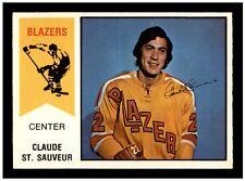 1974-75 O-Pee-Chee WHA Hockey # 62 CLAUDE ST SAUVEUR