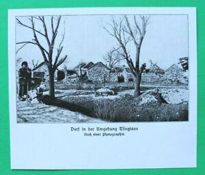 UM5) Kolonie Dorf Umgebung Tsingtau Häuser Ort 1914-1918 Kiautschou China 1.WK