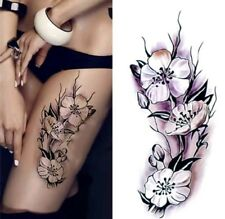 Temporary Tattoo #72 Poppies Flowers Body Art Arm Stickers Removable Waterproof