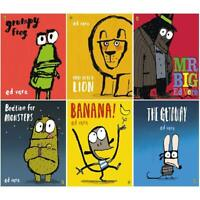 Ed Vere 6 Books Collection Set Getaway, Banana, Mr Big, Grumpy Frog PB NEW