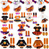 Girls 1st Halloween Outfit Romper Tutu Dress Pumpkin Skull Printed Party Clothes
