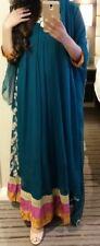 Salwar Kameez Indian Long Dress Maxi Green menhdi Robe anarkal Lengha Pakistani