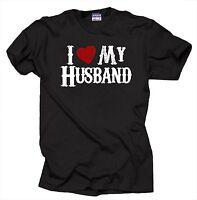 I Love My Husband T-Shirt Gift For Wife Tee Shirt Anniversary Gift
