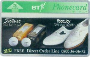 BTP314 TITLEIST GOLF BALLS MINT BT PHONECARD