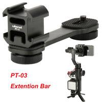 Ulanzi Extention Bar Grip 3 Cold Shoe Mounts Bracket for Vimble 2 Gimbal Nikon
