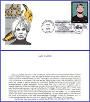 USA #3652 U/A ARTMASTER FDC   Andy Warhol s/a