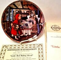 Knowles 1988 Classic Fairy Tales Little Red Riding Hood Collectors Plate