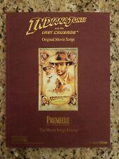 Indiana Jones and the Last Crusade Original Movie Script: Collector's Edition